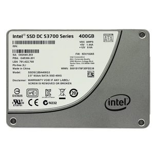 Intel  SSD DC S3700 Series 400GB, 2.5in SATA 6Gb/s, 25nm, MLC,SSDSC2BA400G301