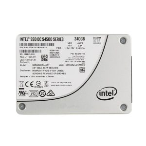 Intel SSD DC S4500 Series 240GB, 2.5in SATA 6Gb/s, 3D1, TLC,SSDSC2KB240G701