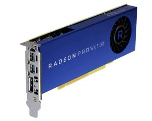 AMD Radeon Pro WX 3100 Graphic Card, 1.22 GHz Core, 4 GB GDDR5, Half-Length , Single Slot Space Required